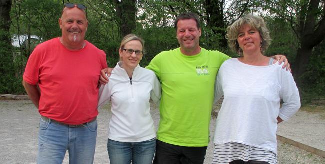 Die Finalisten: v.l.n.r. Daniel, Simone, Jürgen und Katrin